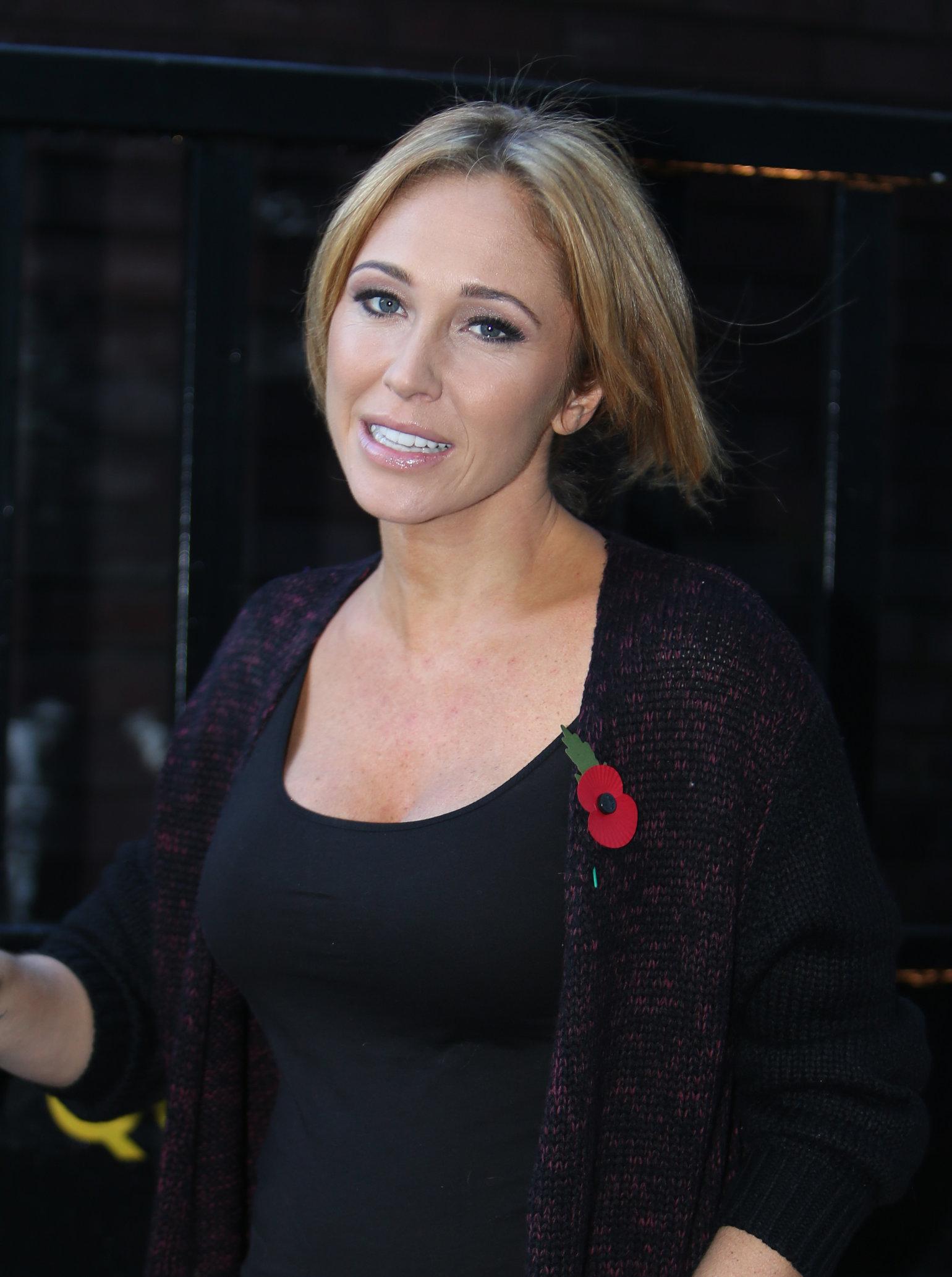 Jenny Frost ITV studios in London - November 1, 2012