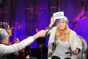Jenny McCarthy taping the 1st episode of The Jenny McCarthy Show in NYC 2/7/13