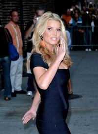 Jessica Simpson - the Late Show with David Letterman in New York City