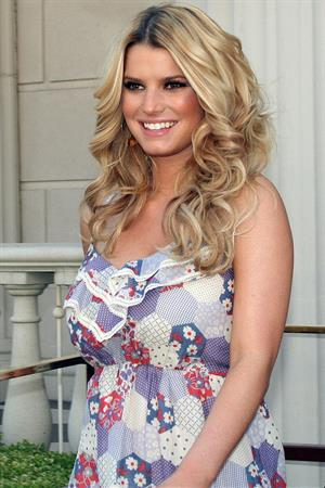 Jessica Simpson during a live taping of The View at Caesars Palace in Las Vegas
