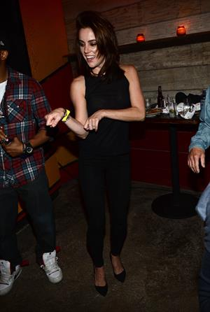 Jessica Stroup 90210 Celebrates 100th Episode At Pink Taco Sunset Strip in LA (Sep 28, 2012)