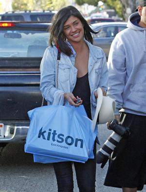 Jessica Szohr Shopping at Kitson, West Hollywood - December 20, 2012