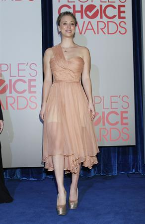 Kaley Cuoco attends the 2012 People's Choice Awards Nominations in Beverly Hills on November 8, 2011