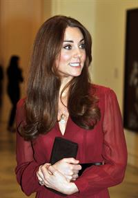 Kate Middleton Visits National Portraits Gallery in London on January 11, 2013
