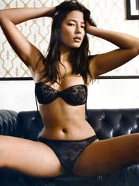 Jessica Gomes in lingerie