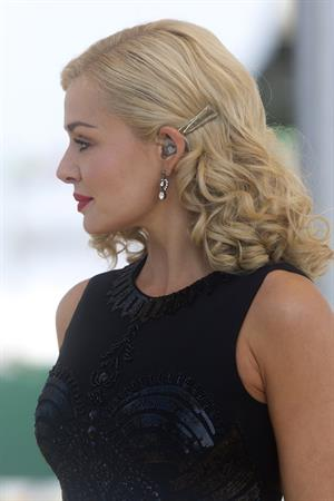 Katherine Jenkins Sings National Anthem during Grand National Day at Aintree Racecourse - Liverpool, Apr. 6, 2013