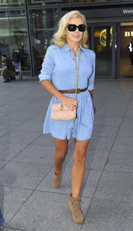 Katherine Jenkins Arrives at Heathrow Airport from LA - October 4, 2012