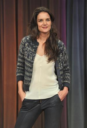 Katie Holmes Late Night with Jimmy Fallon in New York 11/15/12