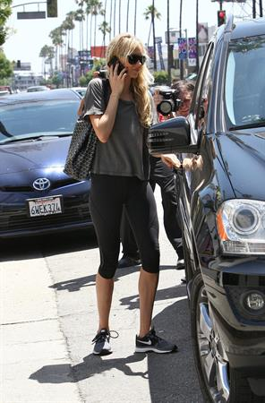 Kimberly Stewart spotted after workout in South Los Angeles on May 30, 2013