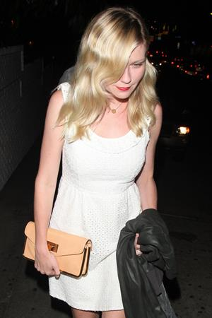 Kirsten Dunst arrives at the Chateau Marmont in West Hollywood 8/2/12