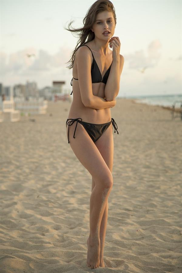 Lexi Wood black bikini
