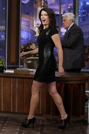 Lauren Graham on The Tonight Show with Jay Leno in 2013