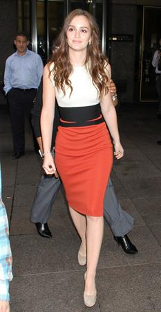 Leighton Meester Arrives at SiriusXM Radio, New York City - October 3, 3012