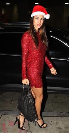 Leilani Dowding Heads out for Hollywood Christmas Party in Hollywood on December 23, 2012