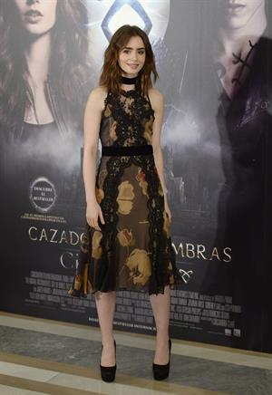 Lily Collins  The Mortal Instruments: City of Bones  Madrid Premiere 8/22/2013