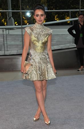 Lily Collins - CFDA Fashion Awards in New York June 4, 2012