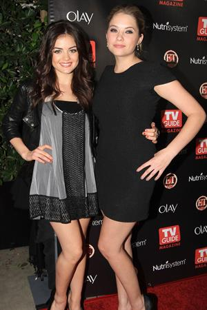 Lucy Hale and Ashley Benson TV Guide Magazines 2010 Hot List Party on November 8, 2010
