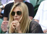 Maria Sharapova Watches her boyfriend Day 4 of the Wimbledon Tennis Championships June 27, 2013