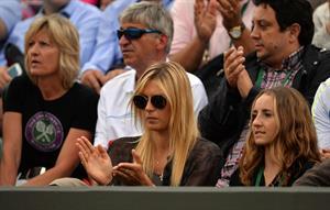 Maria Sharapova Watches her boyfriend Day 4 of the Wimbledon Tennis Championships June 27, 2013