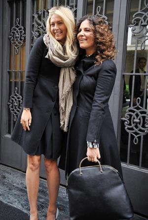 Maria Sharapova Giorgio and Roberta Armani meet tennis star Maria Sharapova at Armani's palace. November 30, 2012