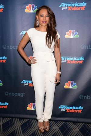 Melanie Brown America's Got Talent Post Show Red Carpet at Radio City Music Hall in New York on August 28, 2013