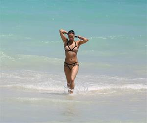 Michelle Rodriguez enjoying the sun at Miami Beach April 26-2013