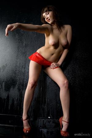 Kate in  Loving Red  for Erotic Beauty