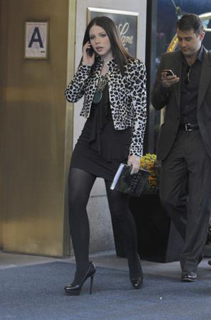 Michelle Trachtenberg  Gossip Girl set in New York - October 1, 2012