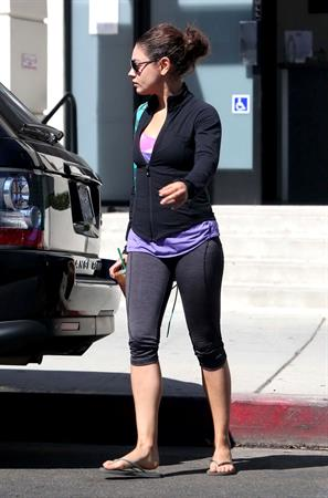 Mila Kunis Heading to the gym in Studio City - August 27, 2012