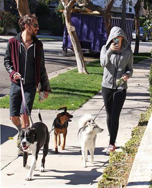 Miley Cyrus walking her dog in Studio City 1/28/13