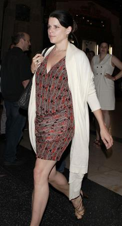 Neve Campbell leaves the Pantages Theatre in Hollywood October 3, 2012
