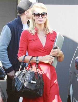 Paris Hilton and River Viiperi leave a shopping trip where Paris gets into her red Ferrari February 13, 2013