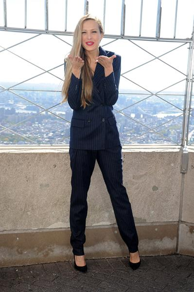 Petra Nemcova Empire State Building in NYC 10/16/12