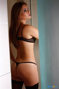 Cathy Merino in lingerie