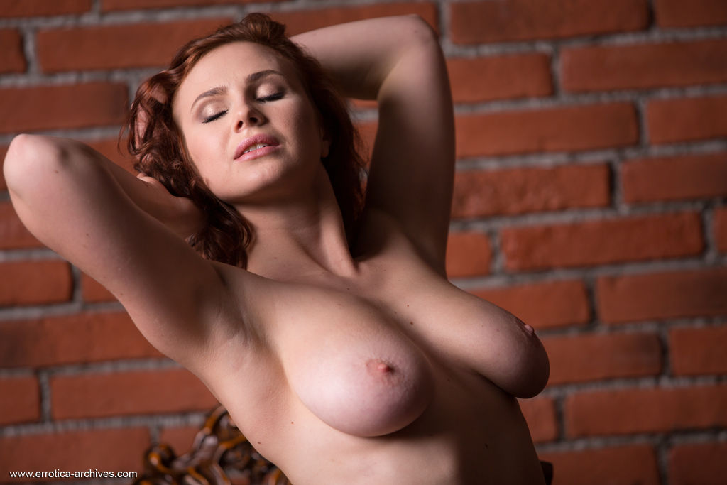 Aphrodita Sexy Girl Model Nude Naked Boobs Big Tits Redhead Spankbank 1