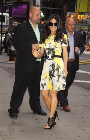 Salma Hayek - At the Good Morning America show in New York City (11.07.2013)