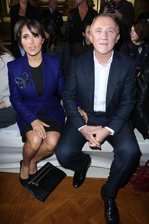 Salma Hayek Stella McCartney fashion show in Paris - October 1, 2012