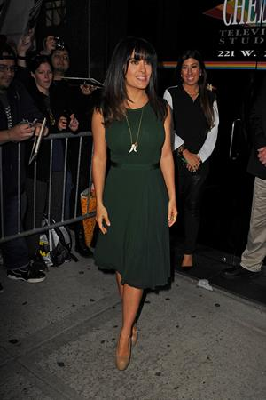 Salma Hayek leaving The Wendy Williams Show in NYC 11.10.12