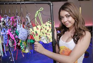 Sarah Hyland  OP Indoor Pool Party  NY 3/18/13