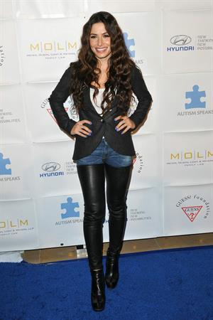 Sarah Shahi Blue Tie Blue Jean Ball in Beverly Hills November 29, 2012