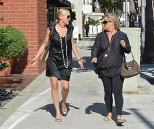 Sharon Stone leaves Villa Blanca restaurant in Beverly Hills October 2, 2012