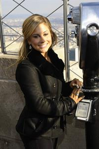 Shawn Johnson Visits The Empire State Building November 28, 2012
