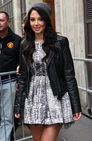 Tulisa Contostavlos outside BBC Radio One in London October 3, 2012