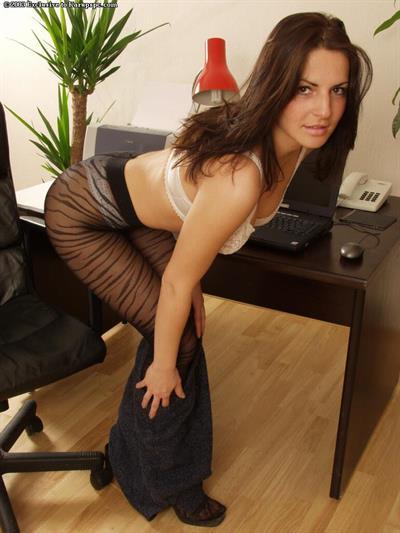 Andrea Krumlova in lingerie