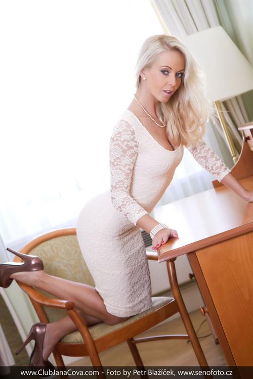 Hot MILF Jana Cova masturbating her sweet pussy in stockings  1624849