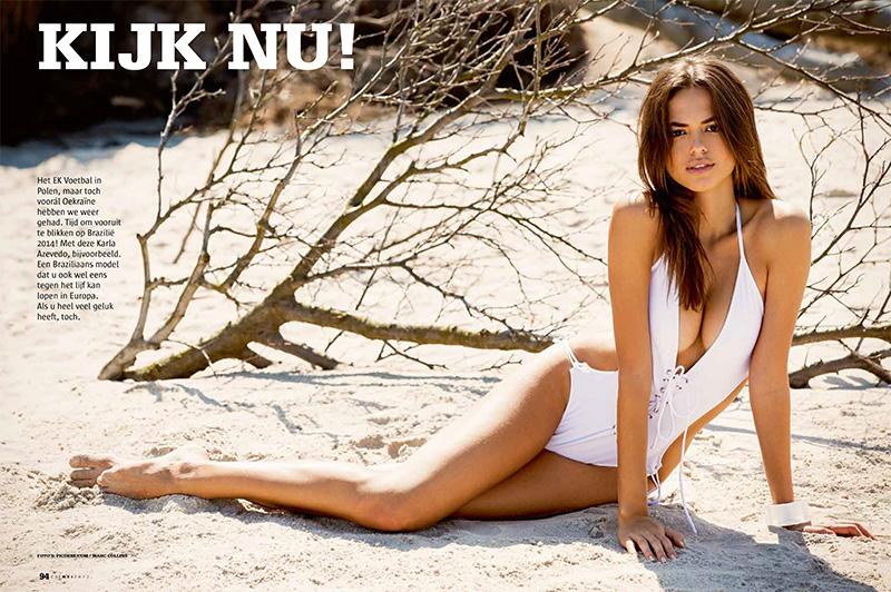 Karla Azevedo in a bikini