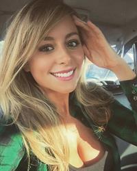 Carly Baker taking a selfie