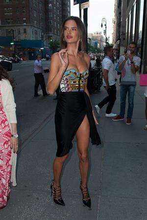 Alessandra Ambrosio at Schutz Footwear Launch Fall Collection 2014, NYC fashion week September 4, 2014