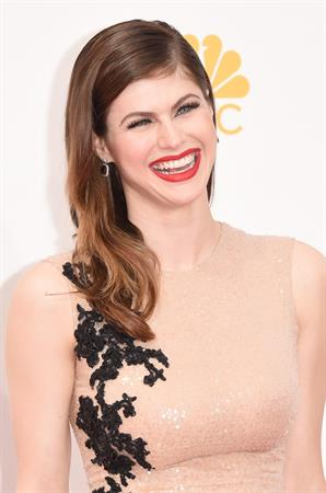 Alexandra Daddario at the 66th annual Primetime Emmy Awards, August 25, 2014