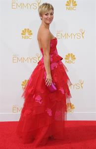 Kaley Cuoco at the 66th annual Primetime Emmy Awards,  August 25, 2014
